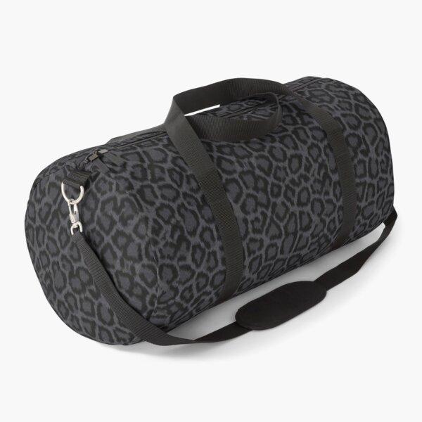 Black Leopard Print Duffle Bag