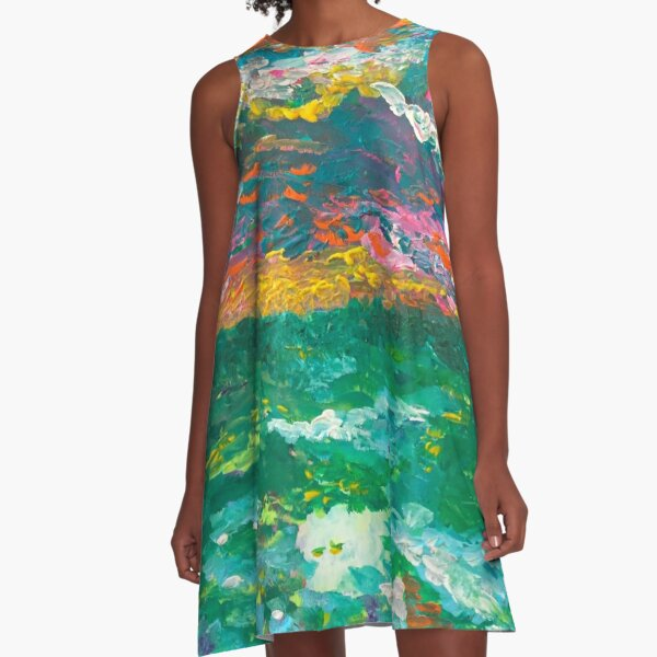Monet's Dream A-Line Dress