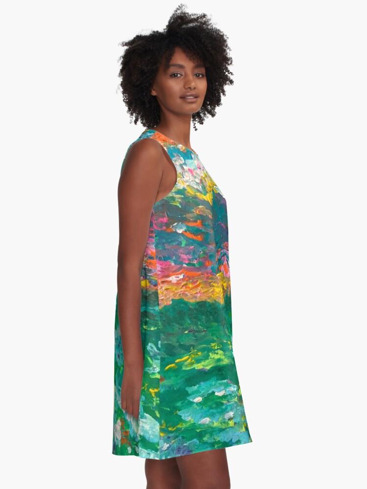 Alternate view of Monet's Dream A-Line Dress
