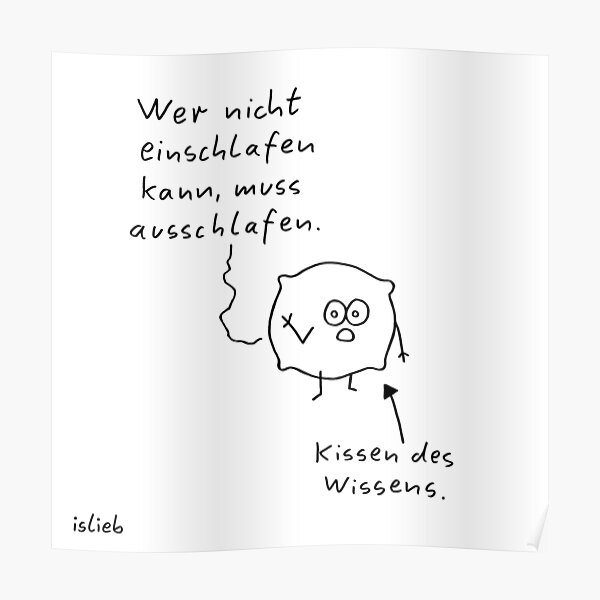 Kissen islieb Comic Poster