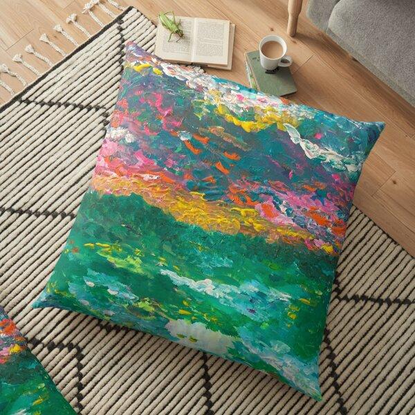 Monet's Dream Floor Pillow