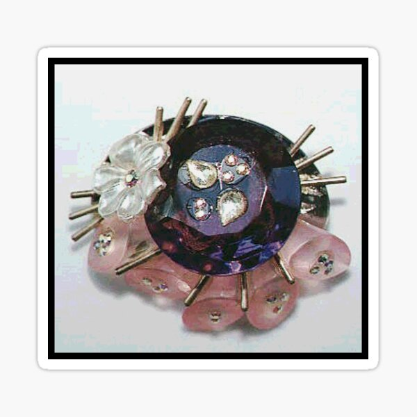 Lucine Designs purple and pink pin Sticker