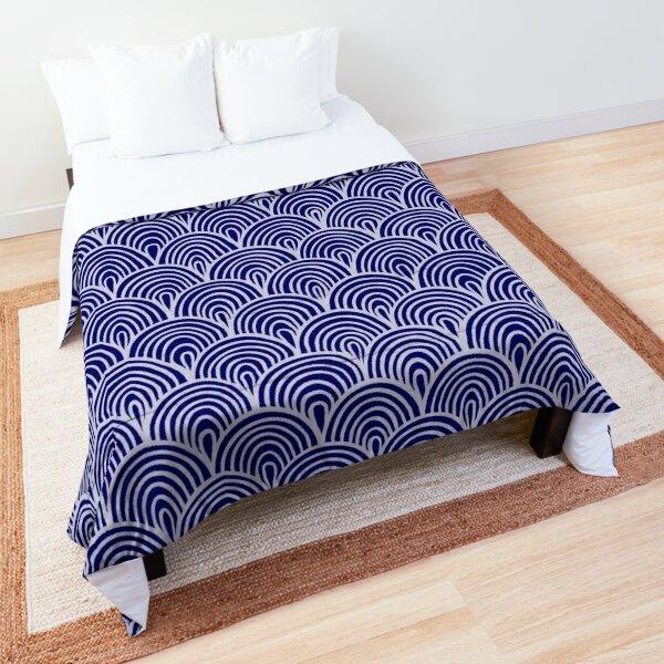 Navy Waves Comforter
