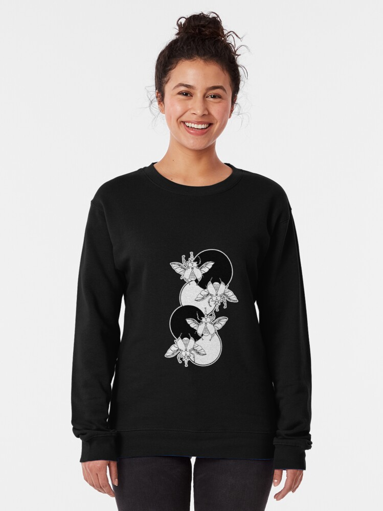 Alternate view of beetles and circles Pullover Sweatshirt