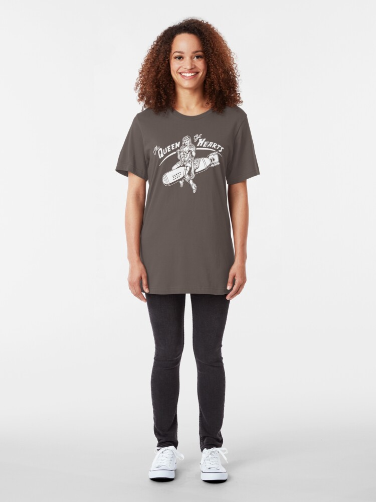 Alternate view of The Queen of Hearts Slim Fit T-Shirt