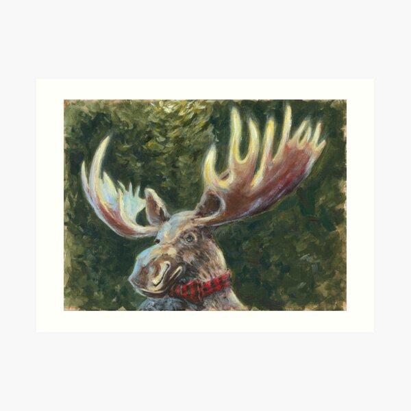 Moose In A Bowtie Art Print