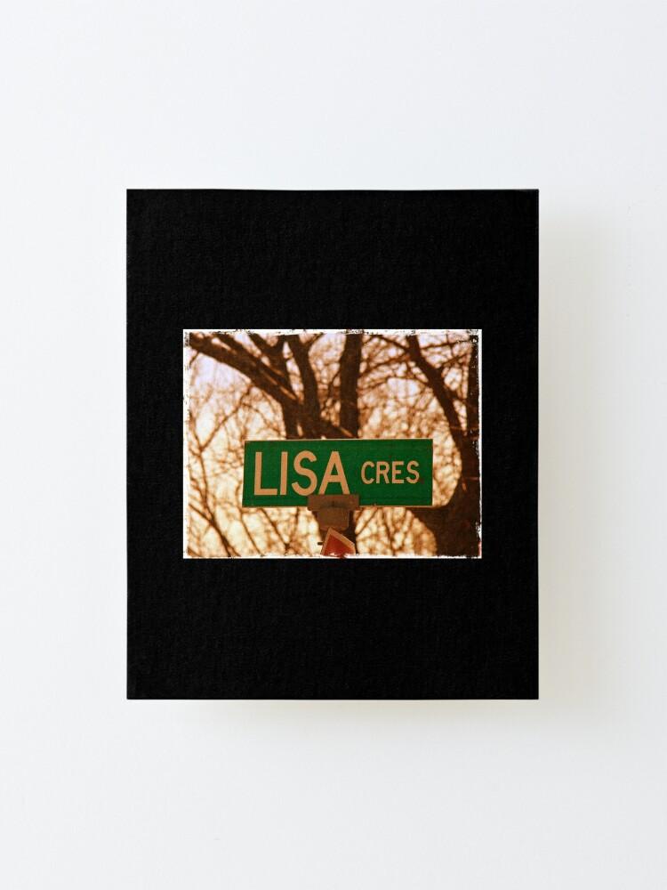 Alternate view of Lisa sticker, Lisa magnet, Lisa mug, Lisa greeting card  Mounted Print