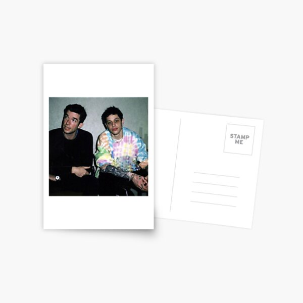 Pete Davidson and John Mulaney Postcard