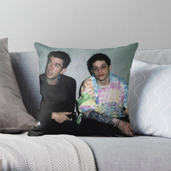 Pete Davidson and John Mulaney Throw Pillow