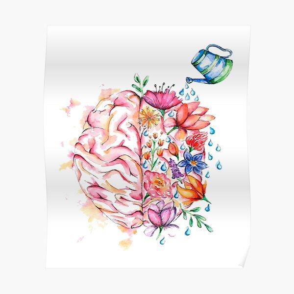 Mental Health Matters - Watercolor Design Poster