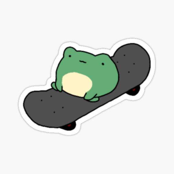 Cute Frog On Skateboard  Sticker