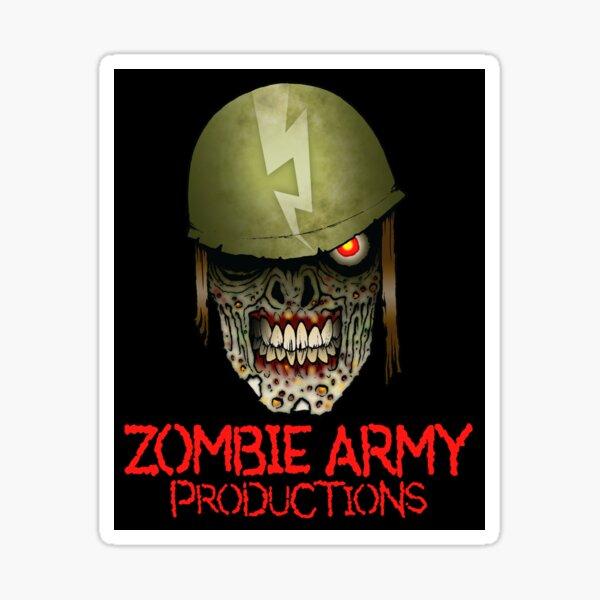 Zombie Army Productions Logo Sticker