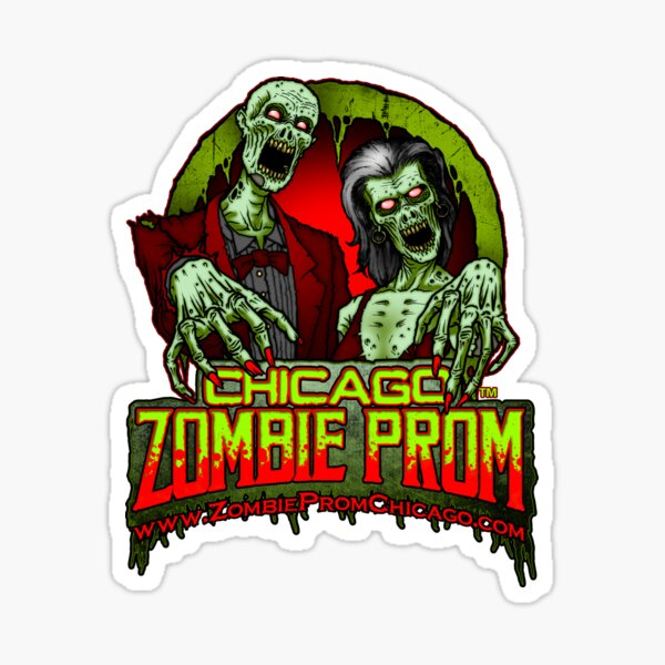 Zombie Prom Chicago Logo Sticker