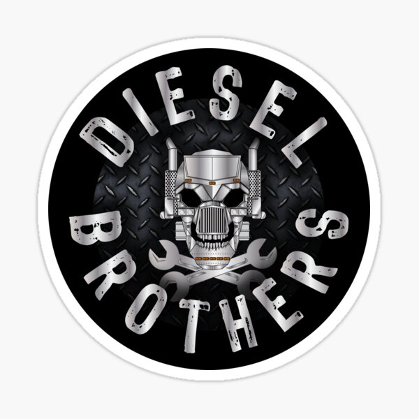 Diesel Brothers - Truck Skull and Wrench Bones Sticker