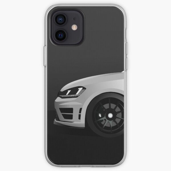 MK7 Golf R Side Shot Blanco Funda blanda para iPhone
