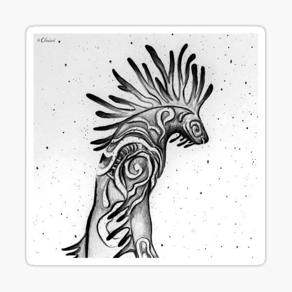 Ominous - Inktober 2020 Series - White Sticker
