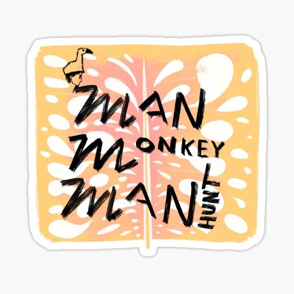 Man Monkey Manhunt Logo Glossy Sticker