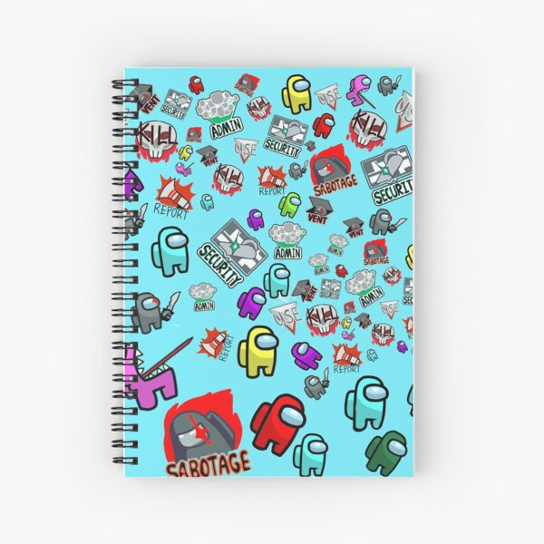 Among Us Pattern! Spiral Notebook