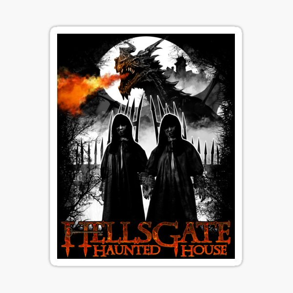 HellsGate Haunted House: Twins with Dragon Sticker