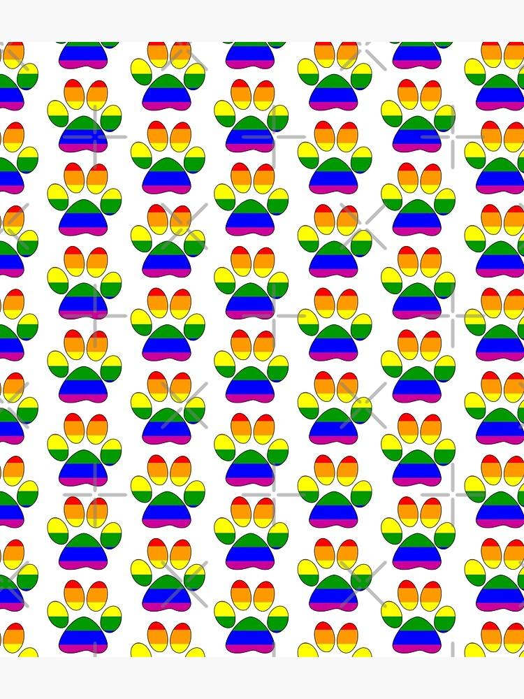 LGBTQ+ Pride Paw by aunumwolf42
