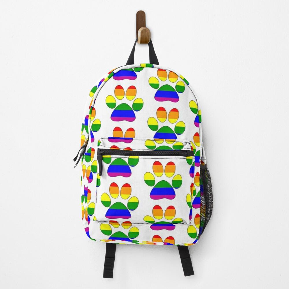 LGBTQ+ Pride Paw Backpack