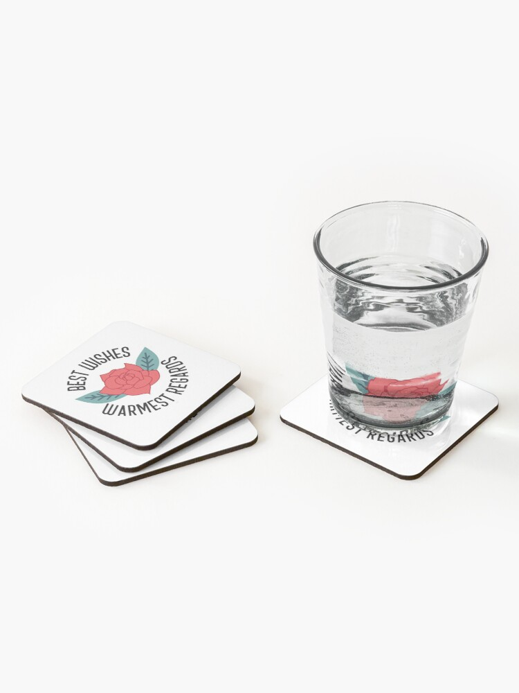 Alternate view of Best Wishes Warmest Regards Coasters (Set of 4)