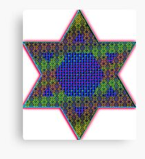 Star of David Psychedelic Canvas Print