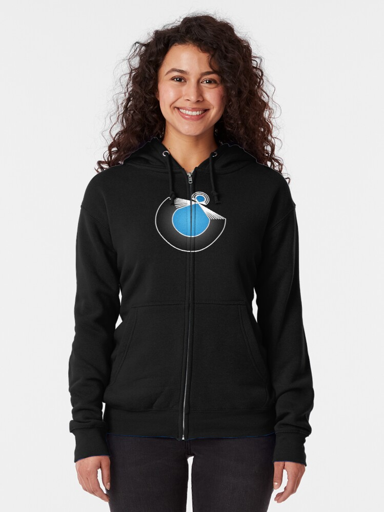 Alternate view of Port Fish official merch Zipped Hoodie