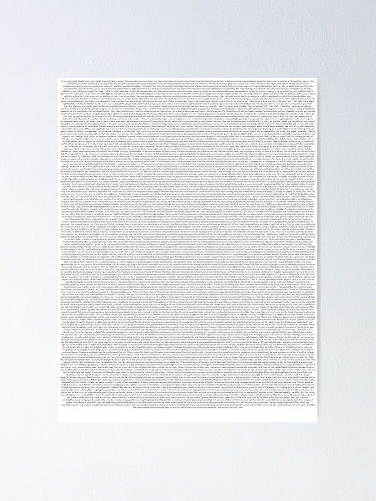 Alternate view of Twilight Movie Script in the Twilight Font Poster