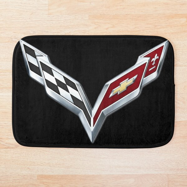 Corvette emblem C7 Bath Mat