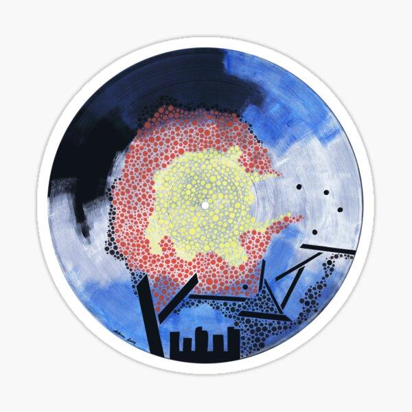 The Colorado Vinyl Record Painting Glossy Sticker