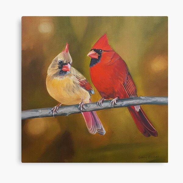 Northern Cardinals Pair painting Canvas Print