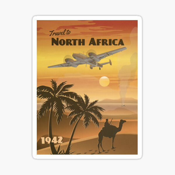 North Africa 1942 - Western Desert Travel Poster Sticker