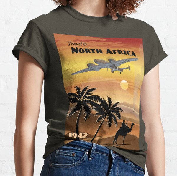 North Africa 1942 - Western Desert Travel Poster (w/o aged filter) Classic T-Shirt