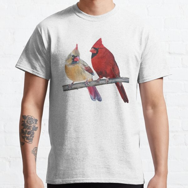 Northern Cardinals Pair painting (no background) Classic T-Shirt