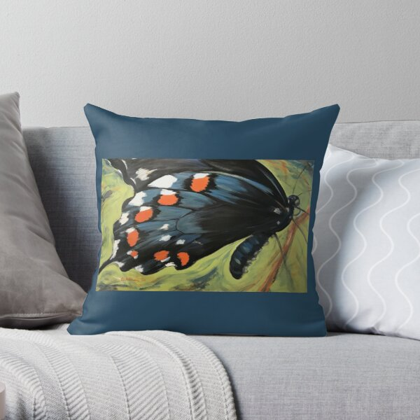 Bold Beauty Butterfly Throw Pillow
