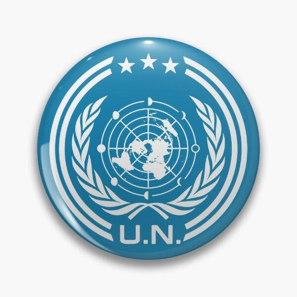 The Expanse Earth UNN Logo Sign  Pin