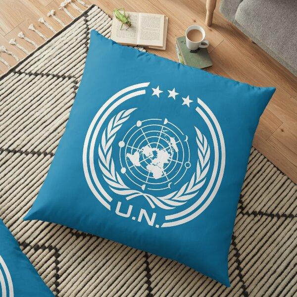 Le signe du logo UNN Expanse Earth Coussin de sol