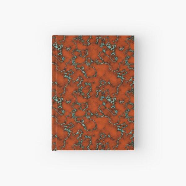 Orange Marble   Green Foil Hardcover Journal