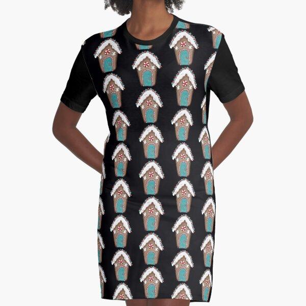 Gumdrop gingerbread house peppermint door Graphic T-Shirt Dress