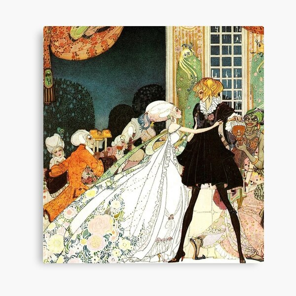 Kay Nielsen ~ The Twelve Dancing Princesses from In Powder and Crinoline illustration  ~ Hodder & Stoughton ~ 1913 Canvas Print