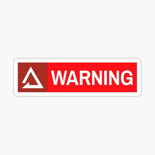 Reverse Friendly Fire Warning Sticker