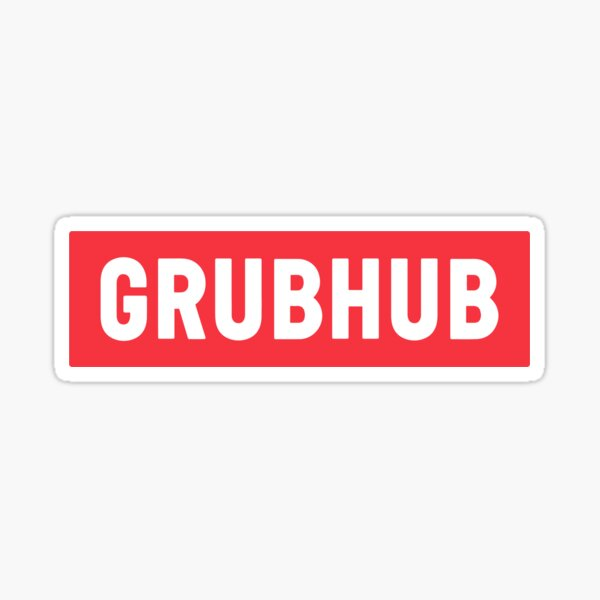 Grubhub Reversed Brick Classic Delivery Logo Red Grubhub Unofficial Uniform Sticker