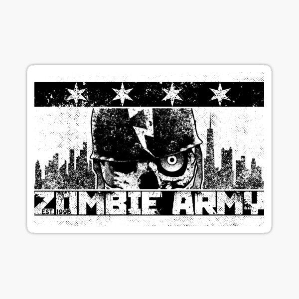 Zombie Army Chicago Flag Sticker