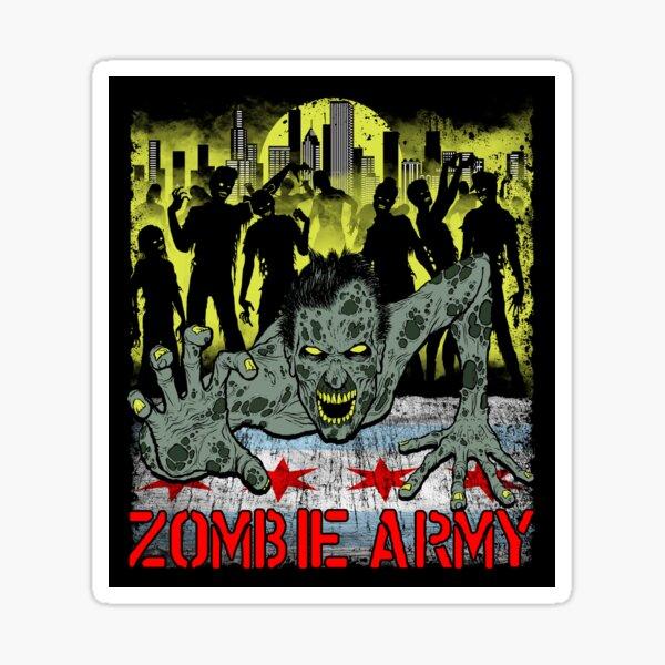 Zombie Army Chicago Sticker