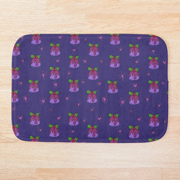 Christmas pudding  Bath Mat