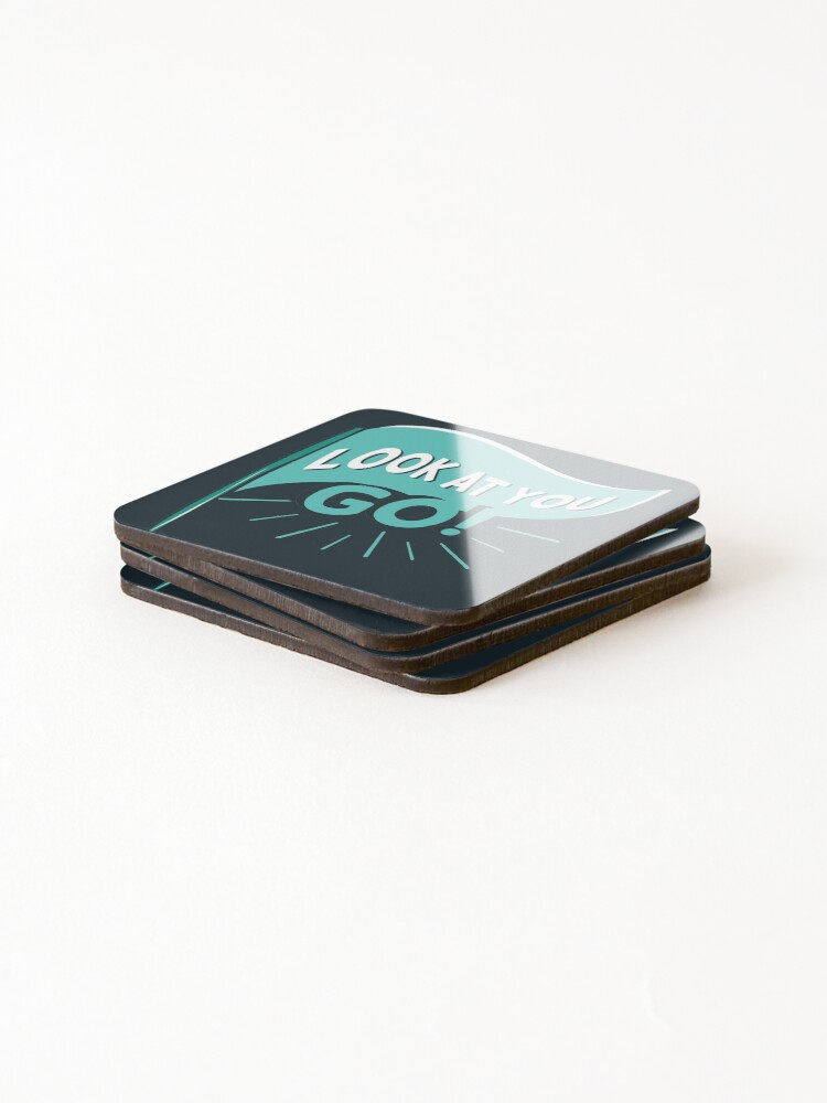 Alternate view of David Rose congratulates Patrick Brewer on Schitt's Creek. Patrick gets a phone number of an interested man and David cheers him on. Coasters (Set of 4)
