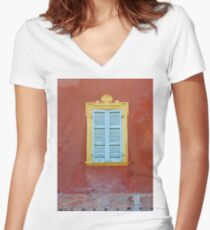 Palazzo window - Italy Women's Fitted V-Neck T-Shirt