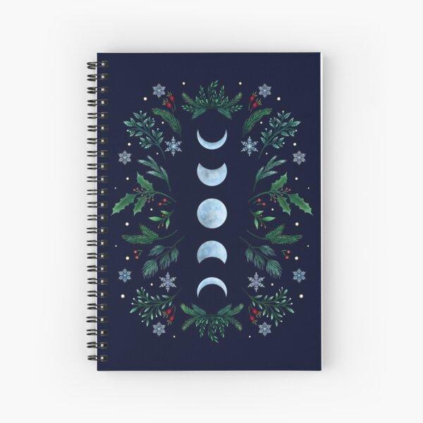 Moonlit Garden-Festive Green Spiral Notebook