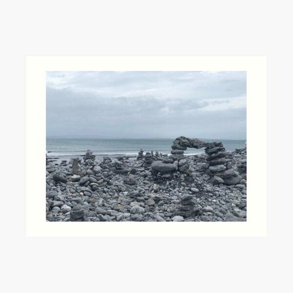 Cairns of Inis Mór Art Print